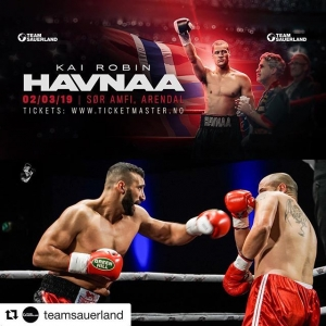 Kai Robin @havnaa will face his toughest career test against  Rad 'Thunder' Rashid as the undefeated cruiserweight star returns to headline his hometown arena on March 2 at the SØR Amfi in Arendal! #HavnaaRashid #TeamSauerland #Boxing #Boxen Tickets : Ticketmaster.no