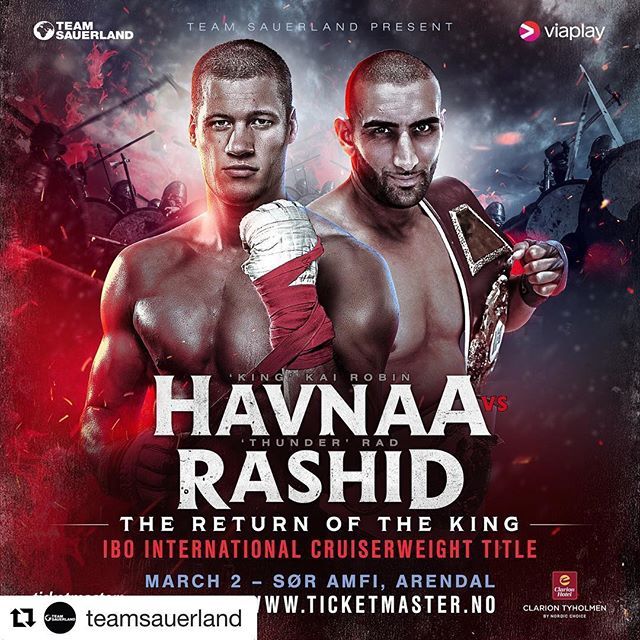 #Repost @teamsauerland ?? ? BREAKING NEWS ? ?? ⠀⠀⠀⠀⠀⠀⠀⠀⠀ We are delighted to announce that @havnaa will now be fighting for the IBO International Cruiserweight title against Rad Rashid ? ⠀⠀⠀⠀⠀⠀⠀⠀⠀ This historic title fight will be the first time in over 40 years that a male boxer has fought for an international title on Norwegian soil. ⠀⠀⠀⠀⠀⠀⠀⠀⠀ ⚫️ #TeamSauerland ⚫️